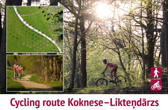 Cycling route Koknese
