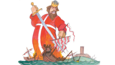Danish king Waldemar defeated the hanseatic fleet 1362 before Helsingborg