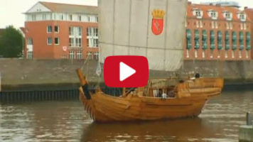 Jo Hiller on the hanseatic cog