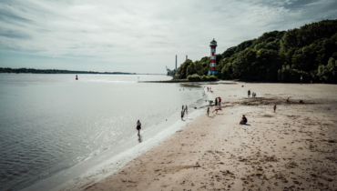 Hamburg insider tip beach at the Elbe