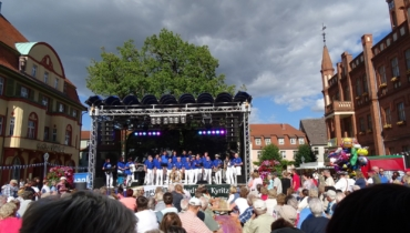Kyritz city festival with Hanse-Shantychoir