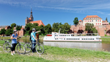 Tangermünde bike trail at the river Elbe ® Photographer Andreas Lander