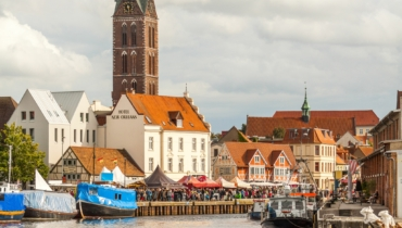 Skyline at the old harbour (TZ Wismar, A  Rudolph)